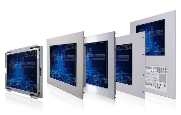 01-Front-right-R10L600-PMP1 / TL Produkt-Welten / Industriemonitor / Panel Mount (Einbau von vorne) / Touch-Screen für 1-Finger-Bedienung