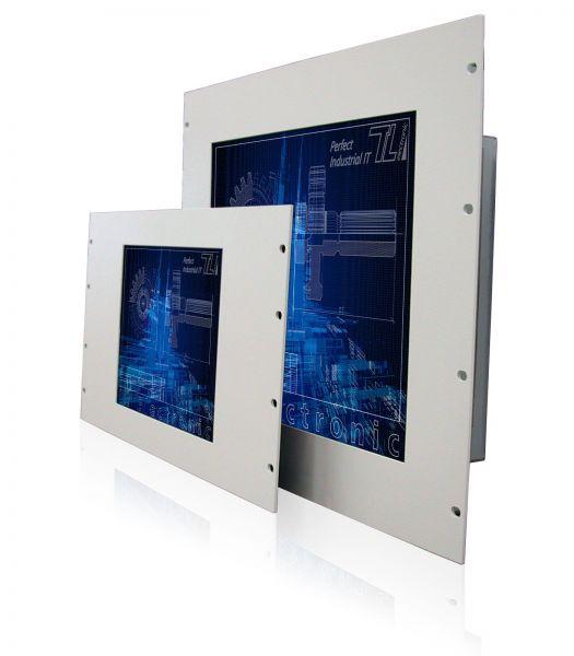 11-Front-right-WM12-6HE+WM17-9HE / TL Produkt-Welten / Industriemonitor / 19-Zoll Rack Mount / Touch-Screen für 1-Finger-Bedienung