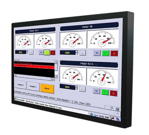01-Chassis-Industrie-Panel-PC-W24IF7T-CHA2 / TL Produkt-Welten / Panel-PC / Chassis (VESA-Mounting) / Touch-Screen für 1-Finger-Bedienung