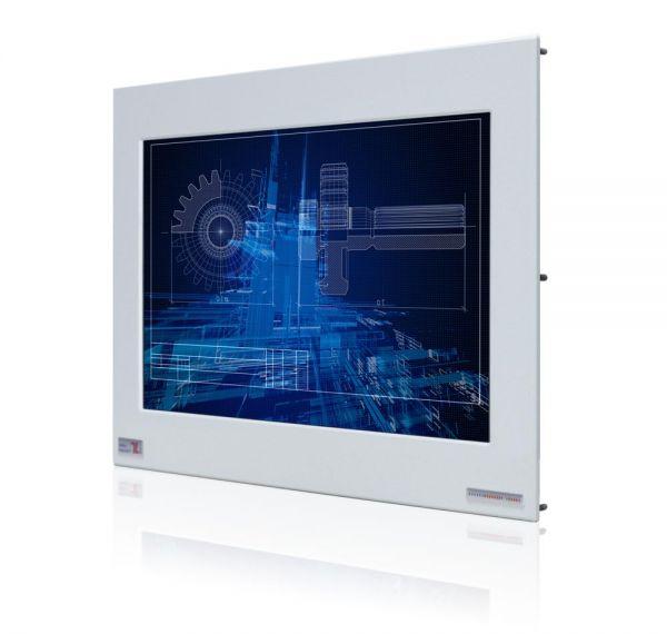 01-Front-right-WM15WPMA-IP65 / TL Produkt-Welten / Industriemonitor / Panel Mount (Einbau von vorne) / Touch-Screen für 1-Finger-Bedienung