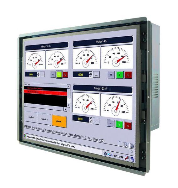 21-Front-right-R17IH7T-OFM1 / TL Produkt-Welten / Panel-PC / Open Frame (Einbau von hinten) / Touch-Screen für 1-Finger-Bedienung