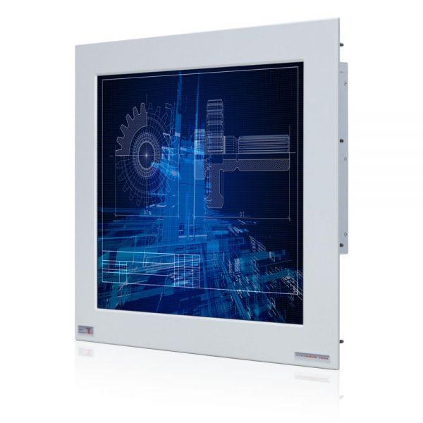 01-Front-right-WM19PMA-IP65 / TL Produkt-Welten / Panel-PC / Panel Mount (Einbau von vorne) / Touch-Screen für 1-Finger-Bedienung