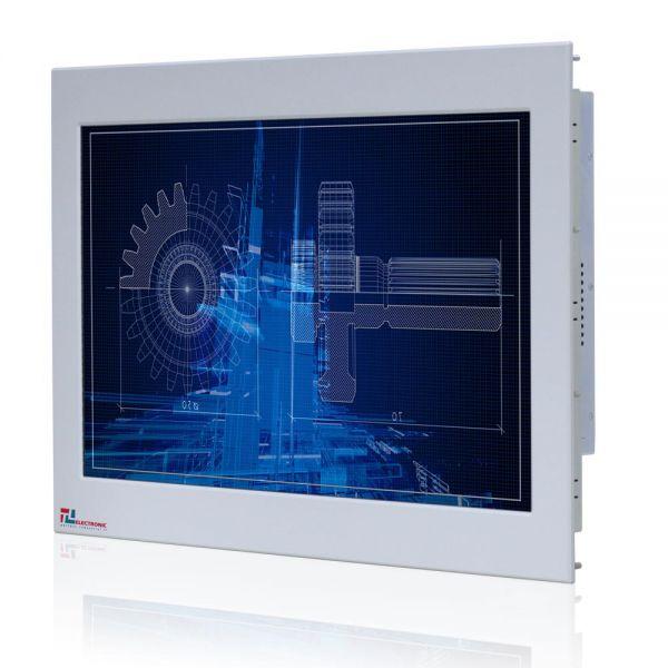 01-Industrie-Panel-PC-WM24PMA-IP65-Einbau / TL Produkt-Welten / Panel-PC / Chassis Edelstahl (VESA-Mounting / Touch-Screen für 1 Finger-Bedienung
