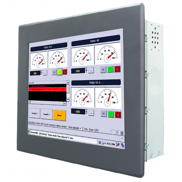 01-Front-right-R08IB3S-PMU1 / TL Produkt-Welten / Panel-PC / Panel Mount (Einbau von vorne) / Touch-Screen für 1-Finger-Bedienung