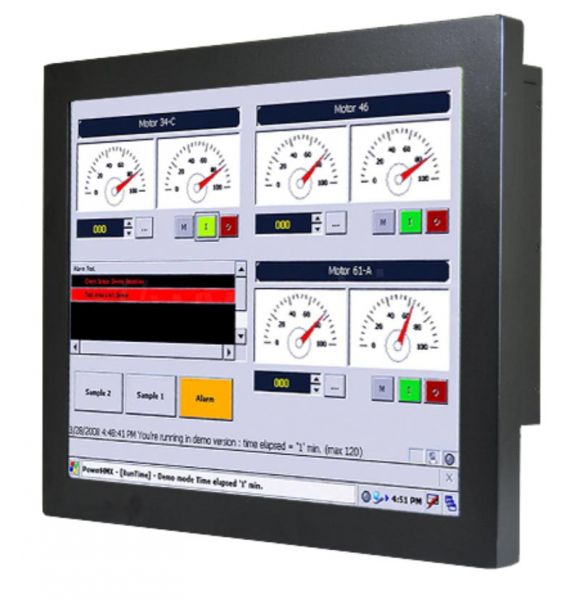 01-Chassis-Industrie-Panel-PC-R19IF7T-CHM1 / TL Produkt-Welten / Panel-PC / Chassis (VESA-Mounting) / Touch-Screen für 1-Finger-Bedienung