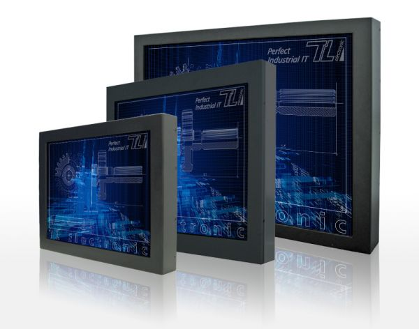 01-Front-right-R15L600-CHC3 / TL Produkt-Welten / Industriemonitor / Chassis (VESA-Mounting) / Touch-Screen für 1-Finger-Bedienung